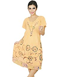 Gift For Women Beach Dress Embroidered Rayon Casual Summer Sundress