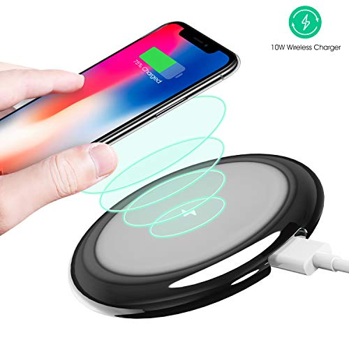 Wireless Charger, OPERNEE 10W/7.5W Qi Fast Wireless Charging Pad IP54 Waterproof TPU Case Compatible with Galaxy S9/S9 Plus Note 8/5 S8/S8 Plus S7/S7 Edge S6 Edge Plus iPhone X/XR/8