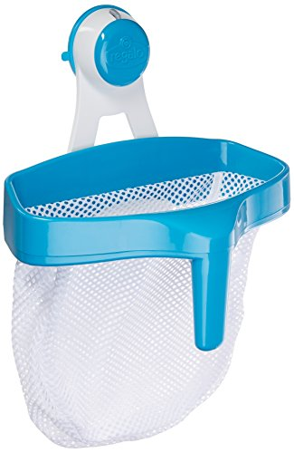 Regalo Super Suction Bath Toy Scoop Drain & Organizer, Includes Suction Hanging Mount