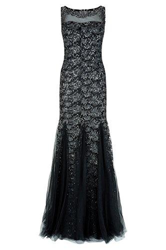 Maia 1012720 Lange Gunmetal Rotguss Dynasty Stil Kleid Schal ohne Damen FUwx55qCPp