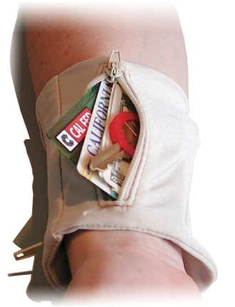 Security Wrist Wallet - Arm Pouch Beige