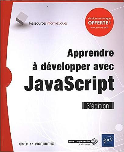 Livre Apprendre à développer avec JavaScript