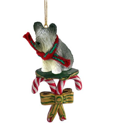 Skye Terrier Dog Candy Cane Christmas Holiday Ornament