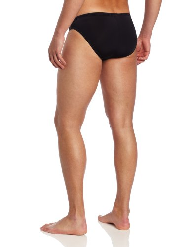 Speedo Men's Shoreline 1 Inch Xtra Life Lycra Fashion Brief Swimsuit, Black, 36