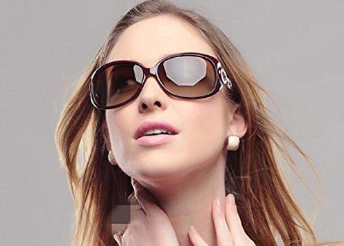 Ojos De Dama Las Polarizadas Sun glasses Caja Nuevas Gafas Elegante Sol Rojo Grande wE1Pq
