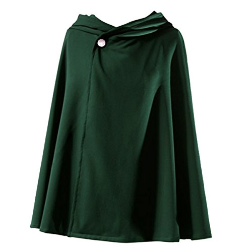 Quesera Women's Attack on Titan Cloak Survey Crops Unisex Green Holloween Cape