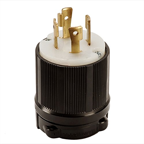 3 Pole 4 Wire NEMA L17-30 OCSParts L17-30P Grounding Locking Plug cUL Listed 30A 600V AC