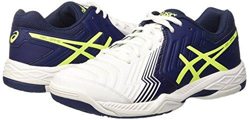 6 white Chaussures Yellow Gel game Asics indigo safety Homme Tennis Blue De Cassé Blanc zqFEBx