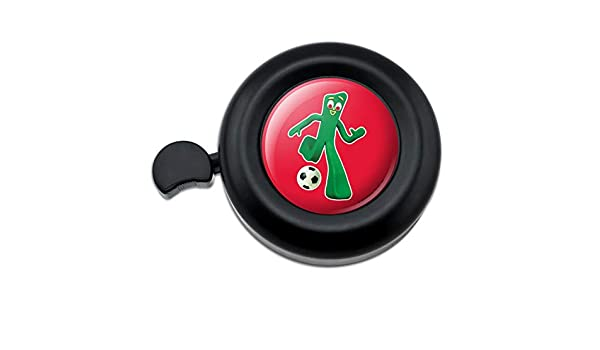 Sporty Gumby Soccer Ball Player Clay Art Bicycle Handlebar Bike Bell