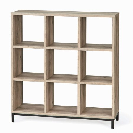 Better Homes and Gardens 9 Cube Organizer with Metal Base, Rustic Gray