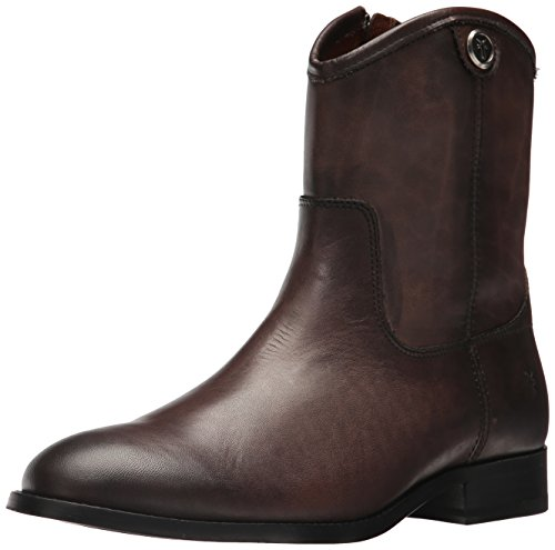 FRYE Women's Melissa Button Short 2 Boot, Smoke, 7.5 M US