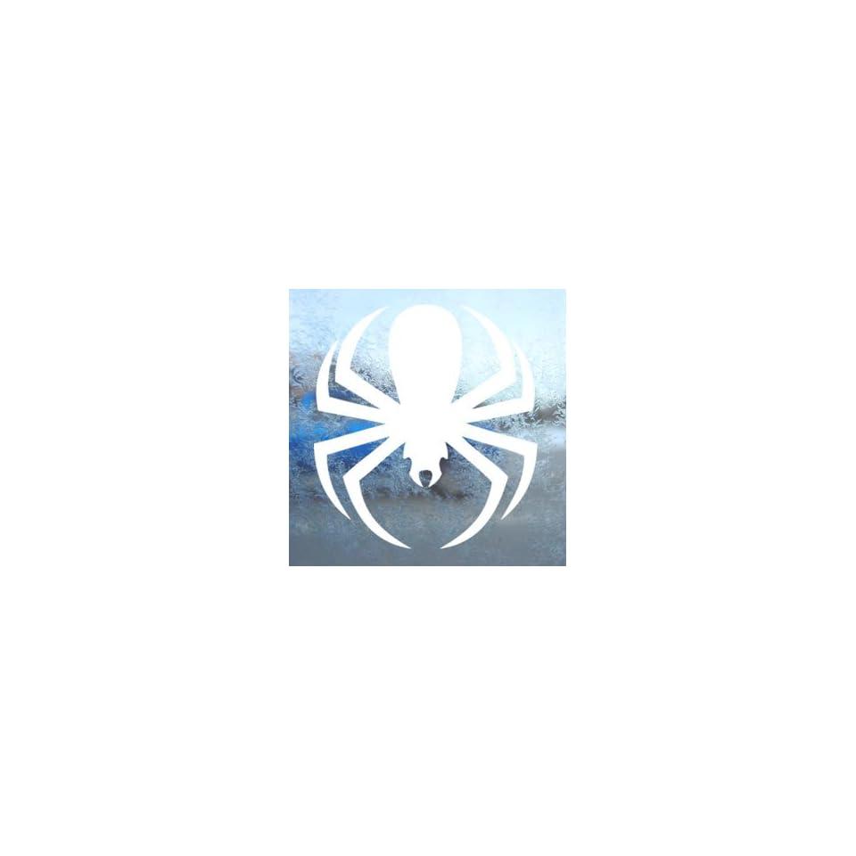 Spiderman Spider White Decal Car Window Laptop White