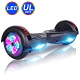 """CBD Hoverboard Self Balancing Scooter Hover Board Electric Scooter with UL 2272 Certified,LED Frontlights,Colorful LED Side Lights,Free Carry Bag,6.5"""" Flashing Wheel,Black"""