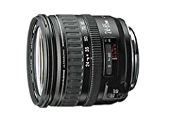 The Canon EF 24-85mm f/3.5-4.5 USM lens has multiple moving lens groups that enhance image quality and make the whole system more compact and lightweight. This lens uses an ultrasonic focusing motor (USM) that gives you silent, high-speed aut...