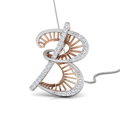 Or Rose 18K 0,1ct tw Round-cut-diamond (IJ | SI) Pendentif
