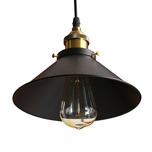 Jeteven Ceiling Pendant Light Metal Hanging Lamp Shade Fixtures Industrial Vintage Edison Lighting with 1.1m Cord for E27 Bulbs
