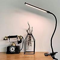 LED Klemmleuchte Dimmbar Leselampe Schreibtischlampe mit 3 Modi (10 Helligkeitsstufen), USB-Leselampe mit Augenschutz,...