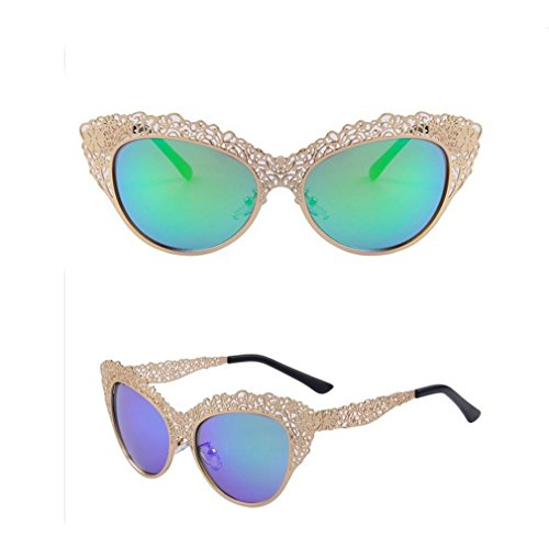 Fashion Women Cat Eye Suncloud Sunnies Lace Designger Carving Alloy Frame Vintage Foakleys Sunglasses Uv400 - Sunglasses Ray Bean