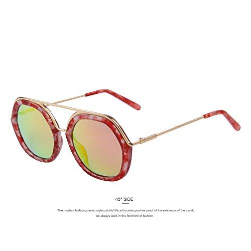 TIANLIANG04 femmes Lunettes de soleil ovales Double Pont Arrière UV400 Lunettes rétro Oculos De Luxe De Sol