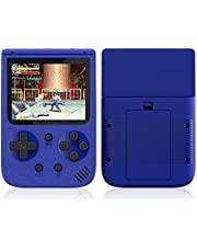 500 in 1 Retro Video Game Console Handheld Game 2.8 Inch Portable Pocket Game Console Mini Handheld Player for Kids Player Gift,Blue