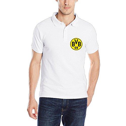 Dortmund Footbal Club Logo Mens Blank Polo Tshirts Size S Color White