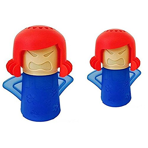 Angry Mama Microwave Cleaner Kitchen High Temperature Cleaning Equipment / Clean The Smell And Bacteria (2pcs-Blue)