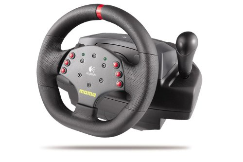 (Logitech MOMO Racing - Wheel and pedals set - 6 button(s) - PC, MAC - black)