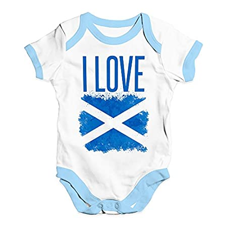 TWISTED ENVY I Love Scotland Baby Unisex Baby Grow Bodysuit 41T3J5mmkuL