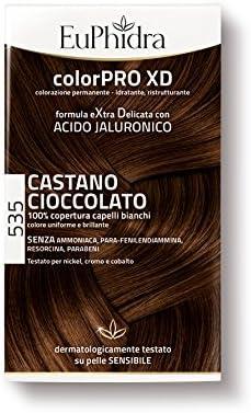Euphidra Color Pro XD 535 Coloración permanente sin amoniaco, castaño chocolate