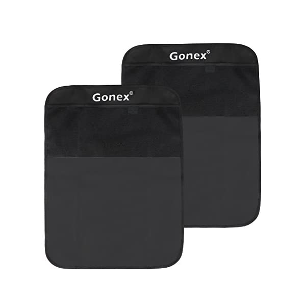 2 Packs Kick Mats For Backseat, Gonex Back Seat Protector With Organizer Waterproof PVC Material