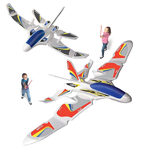 Geospace GEOGLIDE Dueling- Duo Fighters Custom 2 Glider Set; Comes with with Two Fighters and Multiple Wing Combinations, White