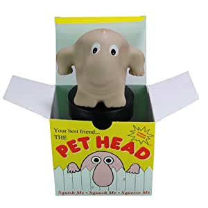 The Pet Head Stress Reliever - Office Desktop Toy - Squishy Novelty Friend!