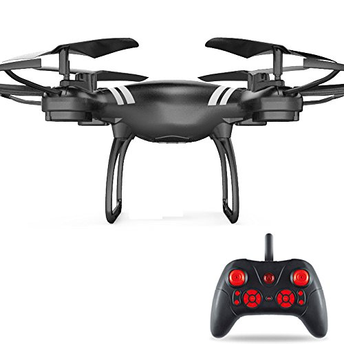 Kanzd Wide Angle Lens HD Camera Quadcopter RC Drone WiFi FPV Live Helicopter Hover (Black) ()