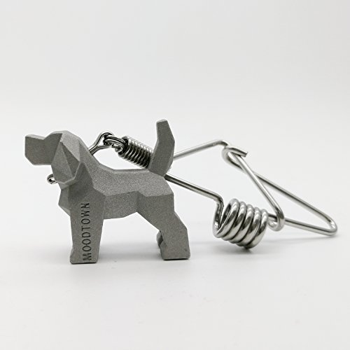 MOODTOWN Handcrafted Stainless Steel Key Chain (Beagle) - Available in 15 Different Breeds
