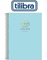 Caderno Capa Plástica, Tilibra, Happy, 307017, 80 Folhas, 1 Matéria, Azul