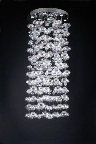 PLC Lighting 96968 PC 10-Light Chandelier Bubbles Collection