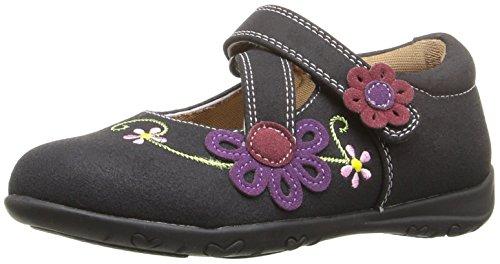 Rachel Shoes Girls' Susie Mary Jane, Black/Multi, 7 M US Toddler