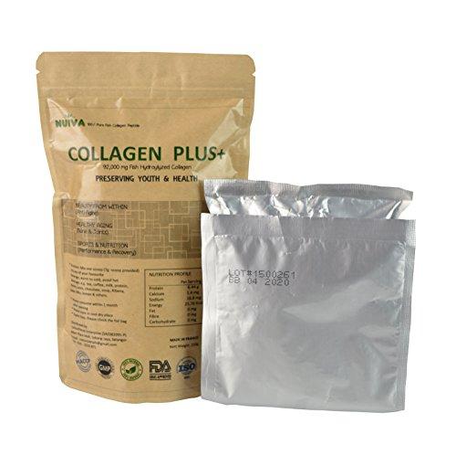 NUIVA Collagen Plus+ 210g Natural Fish Collagen Supplemen...