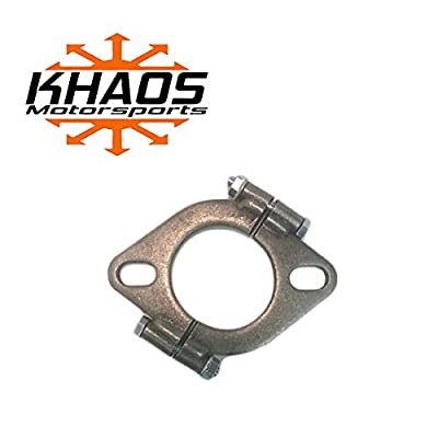 "2.5"" 2-1/2"" inch Exhaust Flange Flat Oval Split Repair Replacement Khaos Motorsports: Automotive"