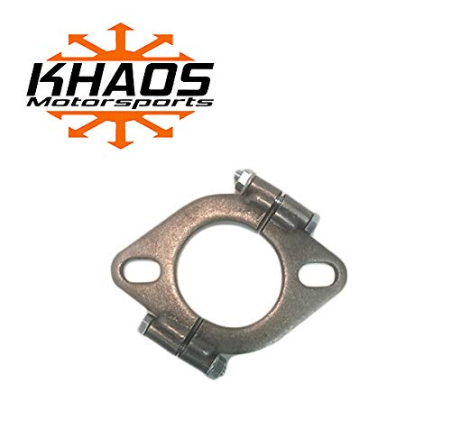 2.25' 2-1/4' inch Exhaust Flange Flat Oval Split Repair Replacement Khaos Motorsports