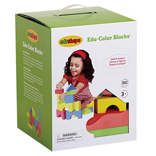 Edushape Educolor Blocks - Edushape Educolor Building Blocks, 80 Piece