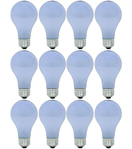 - GE Lighting 63007 Reveal 43-Watt (60-watt replacement) 565-Lumen A19 Light Bulb with Medium Base, 12-Pack