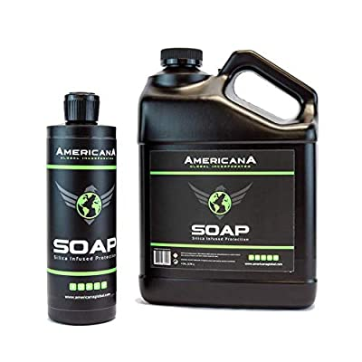 Americana Global Ceramic Aftercare Soap - Infused with Silica SiO2 (Gallon): Automotive