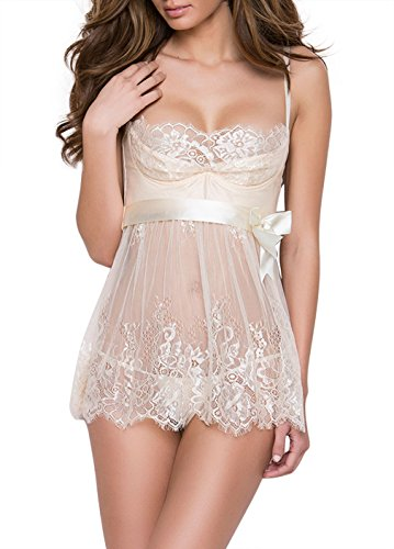 Dlsave Women Lace Floral Underwear Straps Bralette Eyelash Bridal Bra and Panty Set