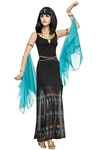 Egyptian Queen Adult Costume (Makeup For Cleopatra Halloween Costume)