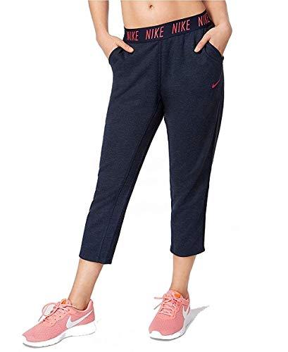 NIKE Womens Dri-Fit Cropped Training Sweatpants Navy M ()