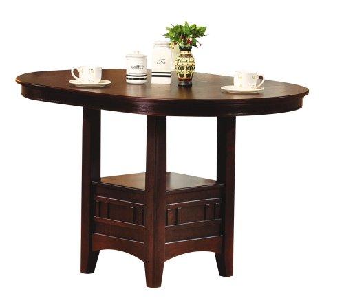 ACME Lugano Bar Table, Walnut Finish - Acme Furniture Walnut Finish