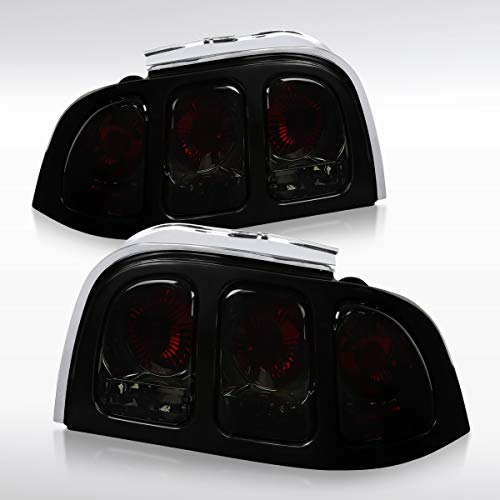 Autozensation For Ford Mustang Pair Smoke Lens Tail Lights Parking Brake Lamps Left+Right Pair - Mustang Parking Brake
