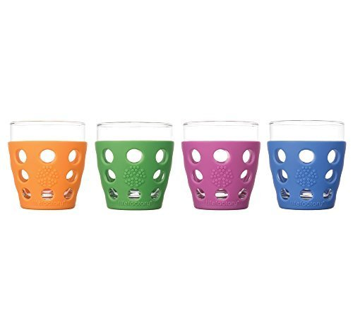 Lifefactory 10 oz. Everyday Glassware, Small, Multicolor, (Pack of 4) by Lifefactory