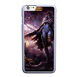 Custom made Case,World of WarCraft-Lady Slyvanas Windrunner Cell Phone Case for iPhone 6 6S plus 5.5 inch, White Case With Screen Protector (Tempered Glass) Free S-7308528